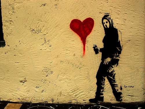 Valentine S Day Graffiti This Sappy Street Art Isn T For