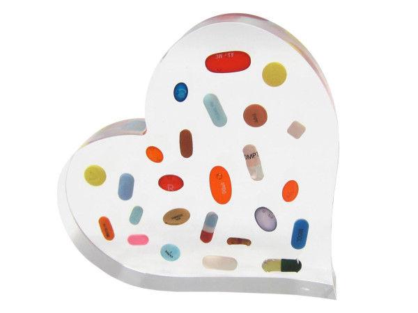 Pill-Popping Heart Sculptures