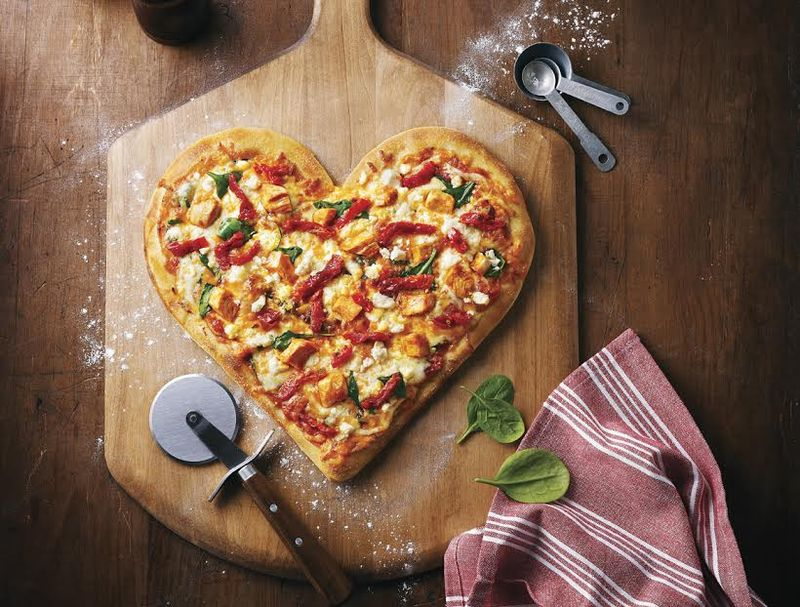 Heart-Shaped Pizzas