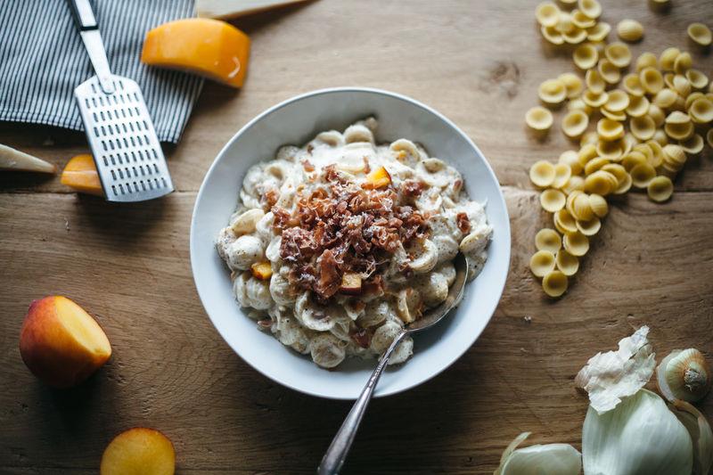 Peach-Infused Macaroni