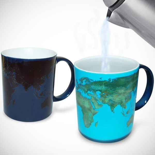Heat-Sensitive Map Mugs
