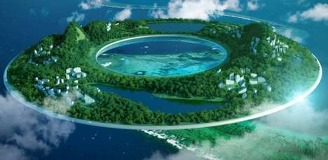 Donut-Shaped Floating Cities