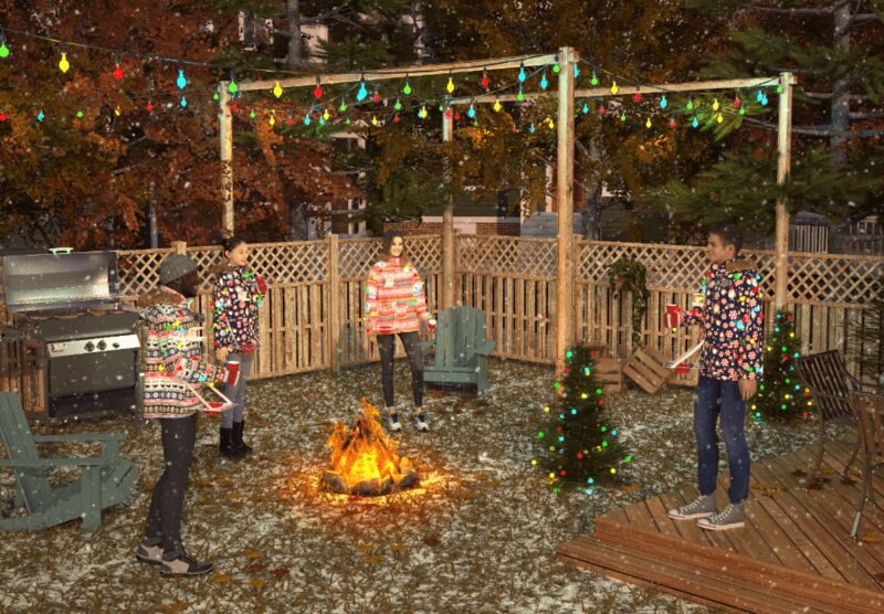 Drink-Holding Ugly Holiday Sweaters