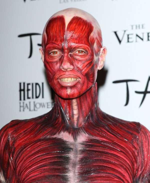 Moribund Model Disguises Heidi Klum Dead Body Halloween Costume