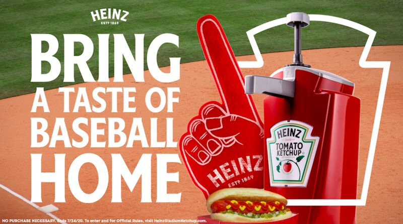 Nostalgic Baseball-Themed Ketchup Ads