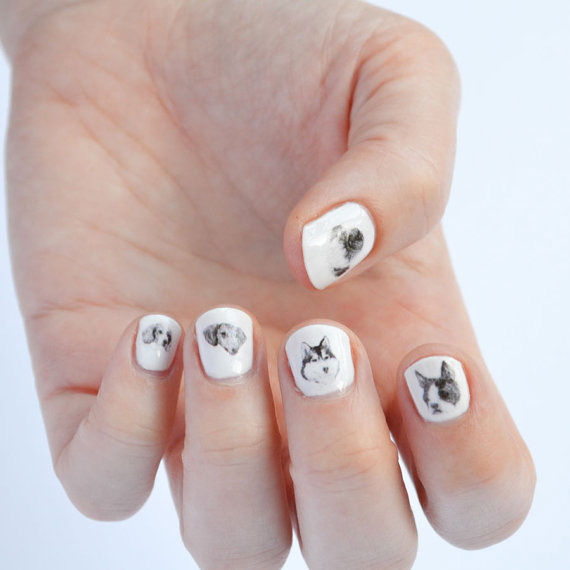 Dog-Themed Nail Art