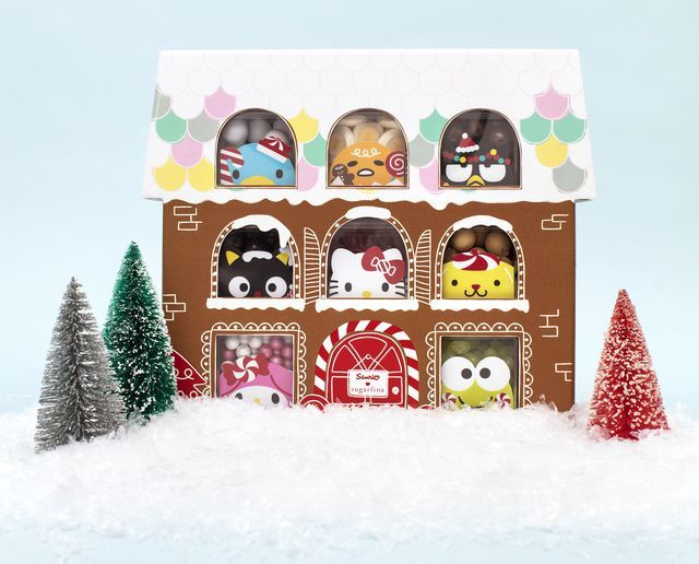 Candy Filled Gingerbread Houses Hello Kitty Holiday