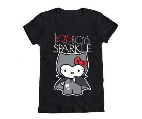 Cute cat film tees hello kitty twilight t shirts for Hello kitty t shirt design