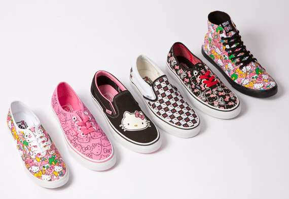 f0ff3176e9 Fashionable Feline Sneakers   Hello Kitty Vans Collection