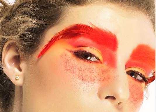 Fiery Feathered Brows