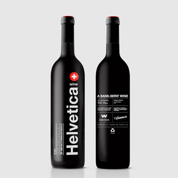 Font Themed Wine Branding
