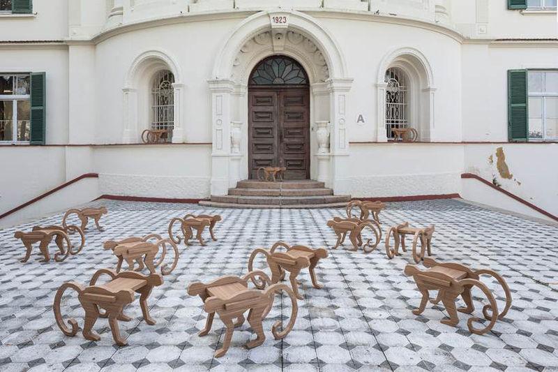 animal shaped tile monkey shaped furniture henrique steyer