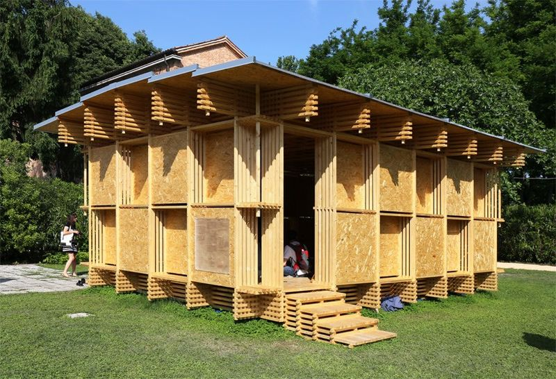 Wooden Checkered Pavilions