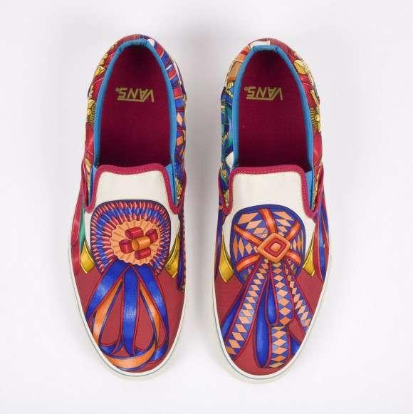31bb1c56bb7 Mind-Bending Footwear   Hermès Custom Vans Slip-Ons