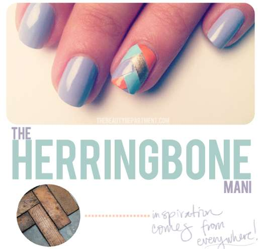 Diy Interwoven Nail Art Herringbone Mani