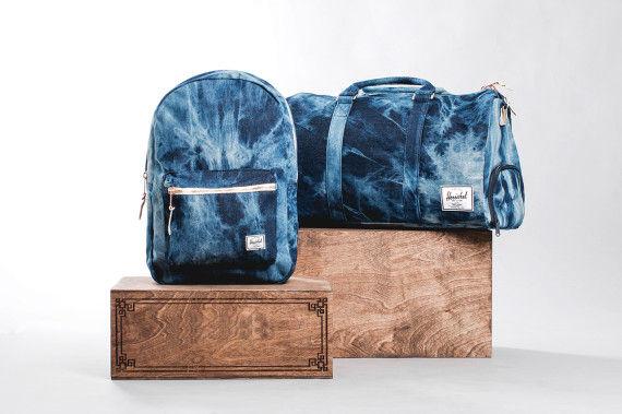 Bleached Denim Backpacks