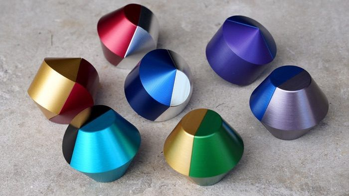 Interchangeable Machined Desk Toys