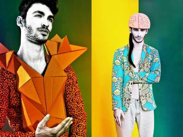 Chromatic Origami Menswear