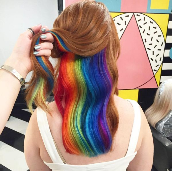 Secretive Rainbow Hairstyles