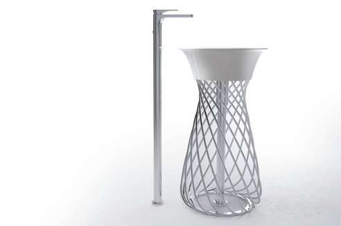 Wicker Basket Washroom Basins