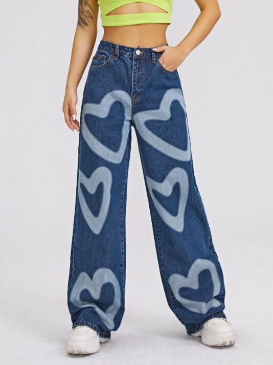 Bold Heart Adorned Jeans