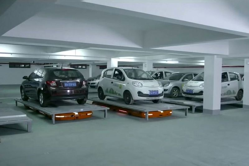 Automated Parking Garage Robots