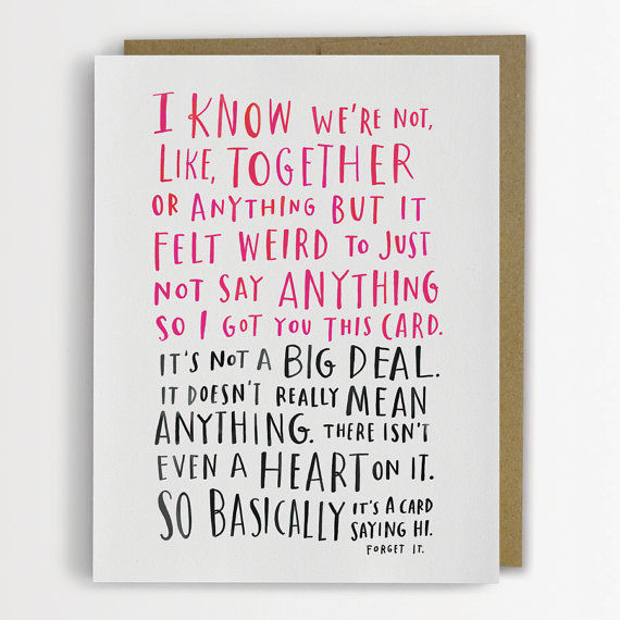 Awkwardly Rambling Romantic Cards