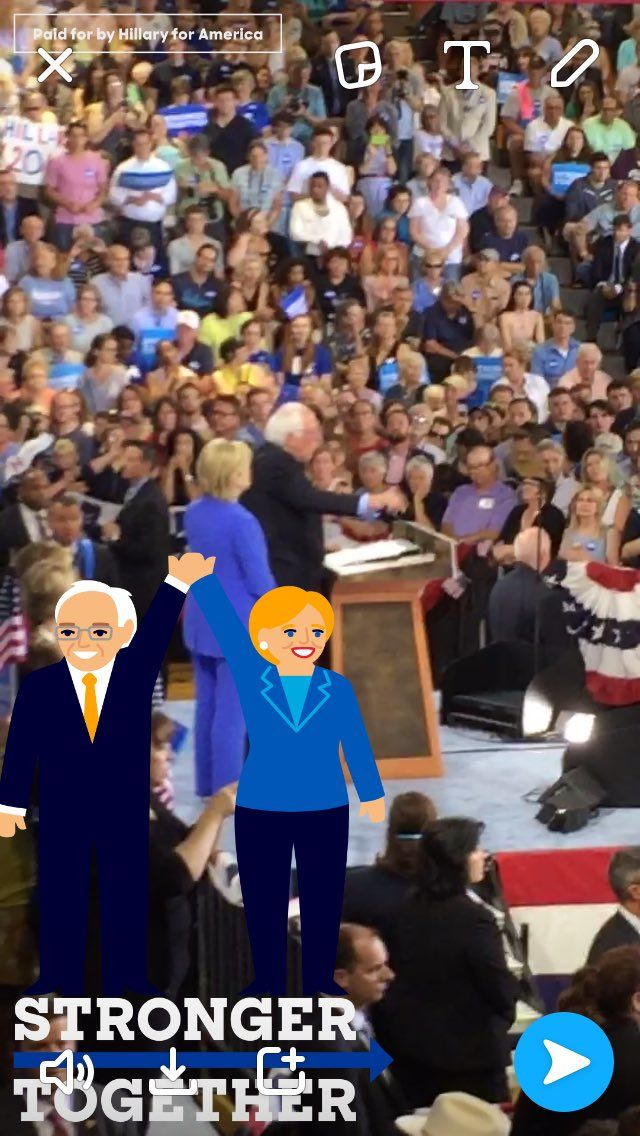 Political Cartoon Geofilters