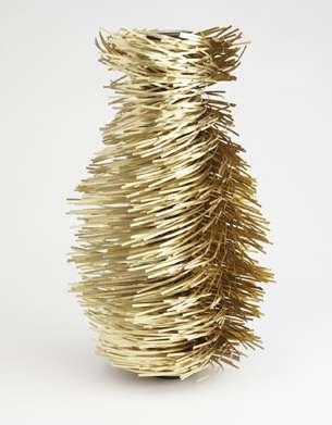 Brassy Hurricane Vases