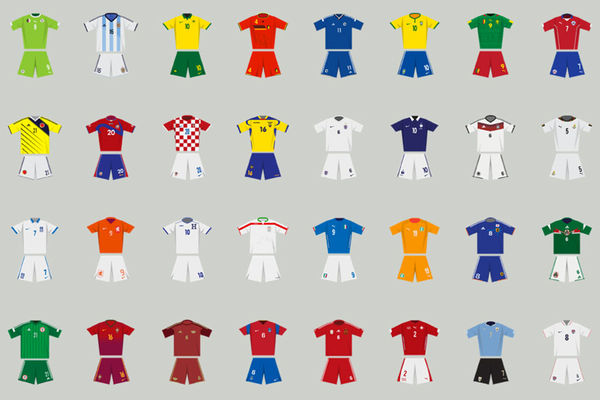 World Cup Kit Illustrations