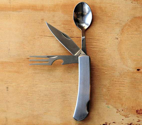 Switchblade Table Utensils Hobo Eat Kit