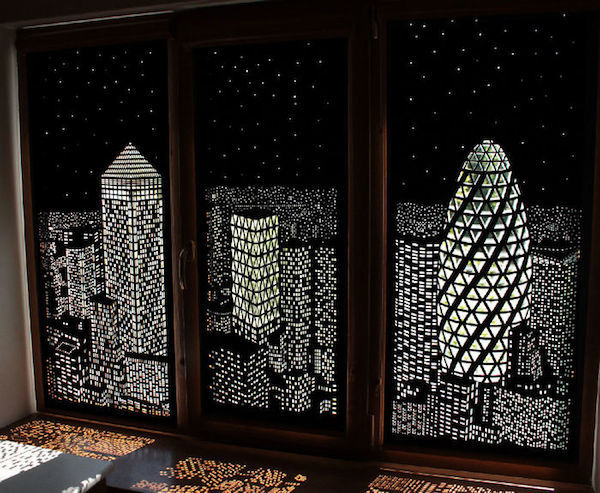 Cityscape Blackout Blinds Holeroll