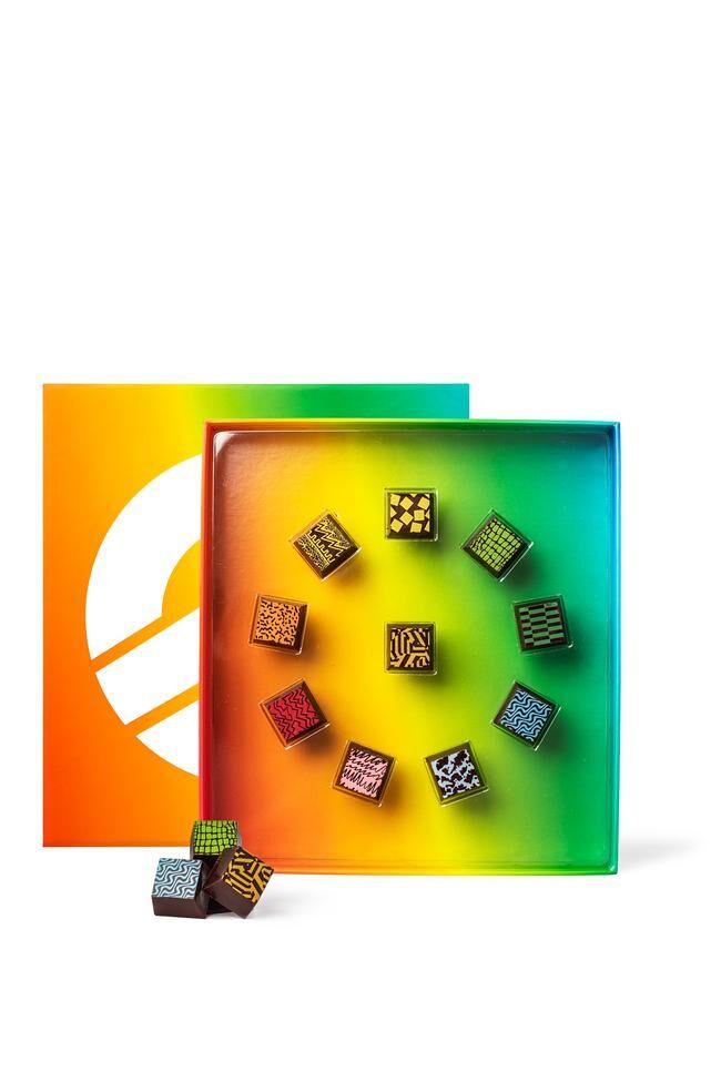 Rainbow-Hued Holiday Chocolates
