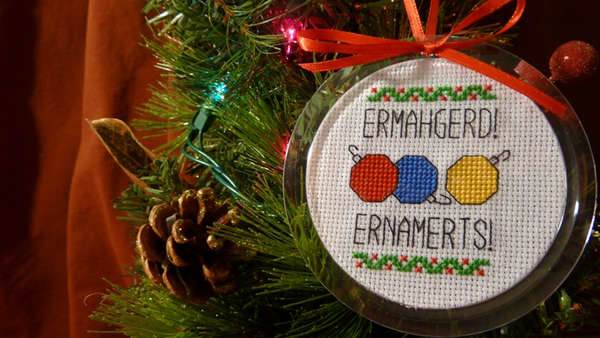 Meme Christmas Decor  Holiday Ornaments