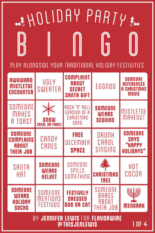 Universal Holiday Family Games : holiday party bingo