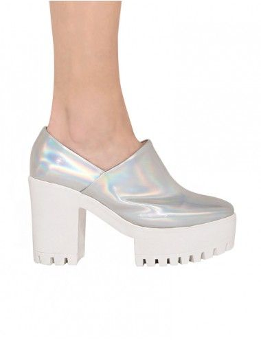 Reflective Space-Age Heels