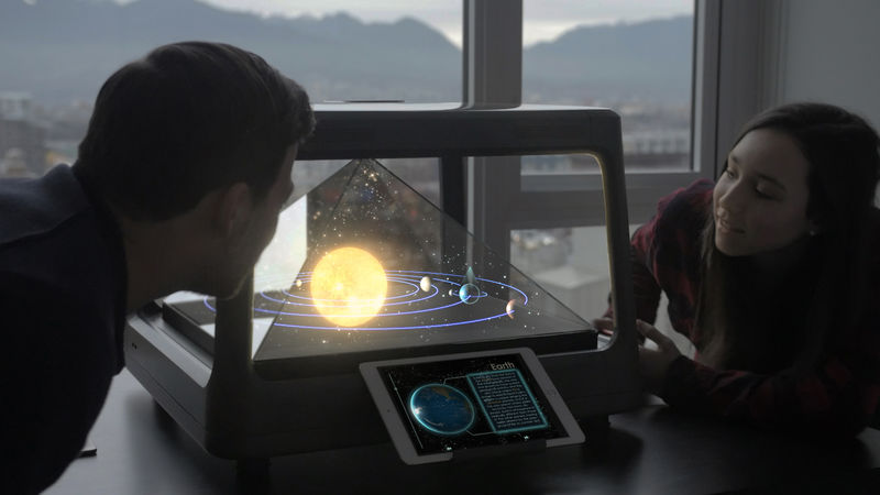 Tabletop Holographic Projectors