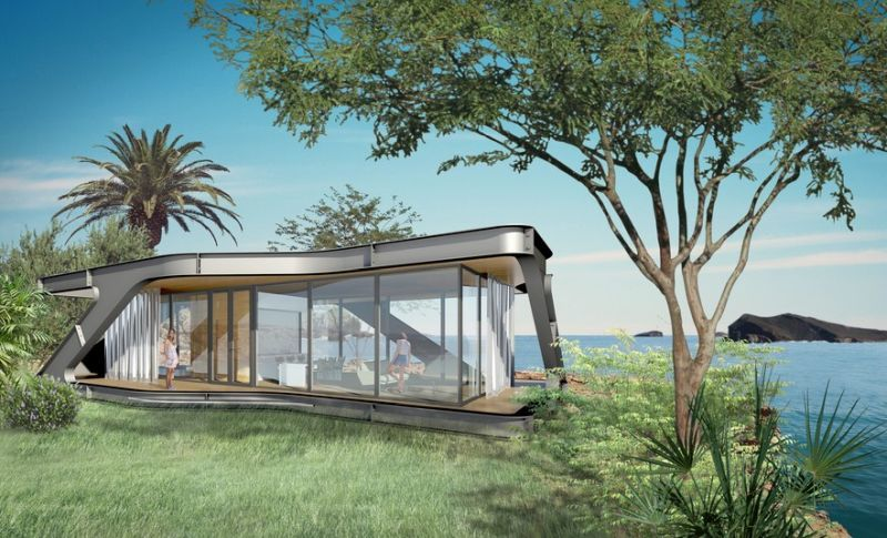 High-End Prefab Homes : home architecture design on nature architecture, natural modern architecture, natural light architecture,