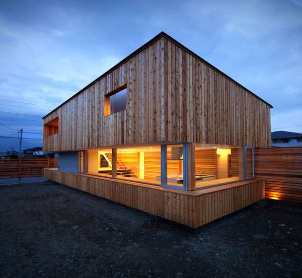 Modern log cabins home by masaaki okuno for Contemporary designs of one bedroom cottages