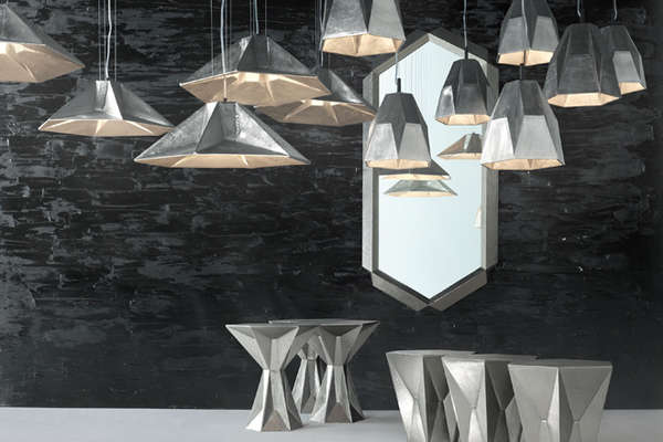 Multifaceted Metallic Furnishings Home Decor Collection