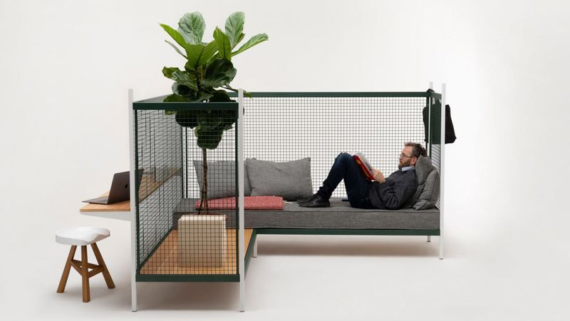 Gridded Home-Office Furnishings