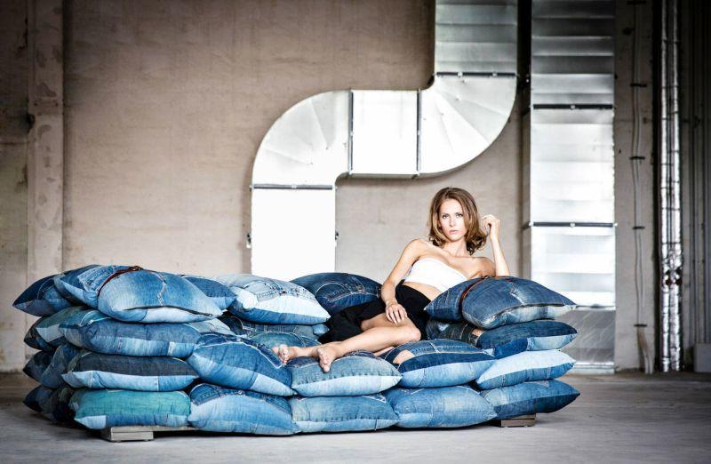 Recycled Denim Home Sofas