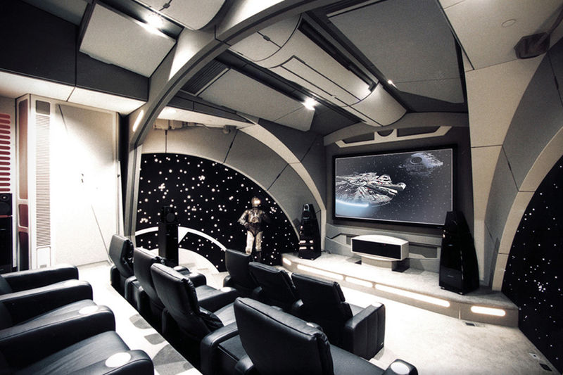 custom sci fi theatres home theatre. Black Bedroom Furniture Sets. Home Design Ideas