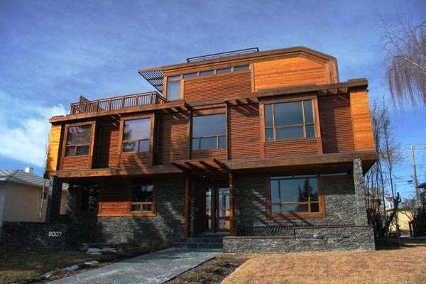 Idyllic Canadian Abodes Home Wood Natural Stone