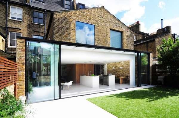 Rustically modern london flats homemade by bureau de for Agrandissement pavillon