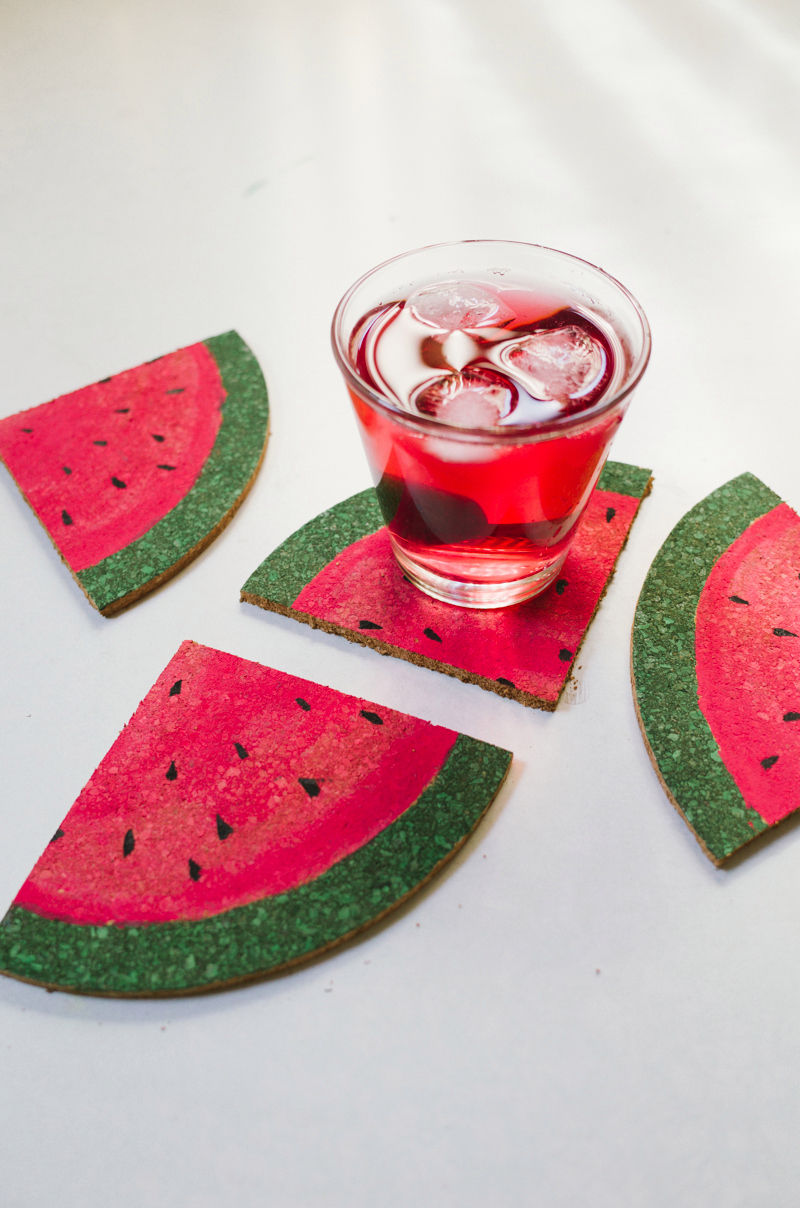 DIY Watermelon Coasters
