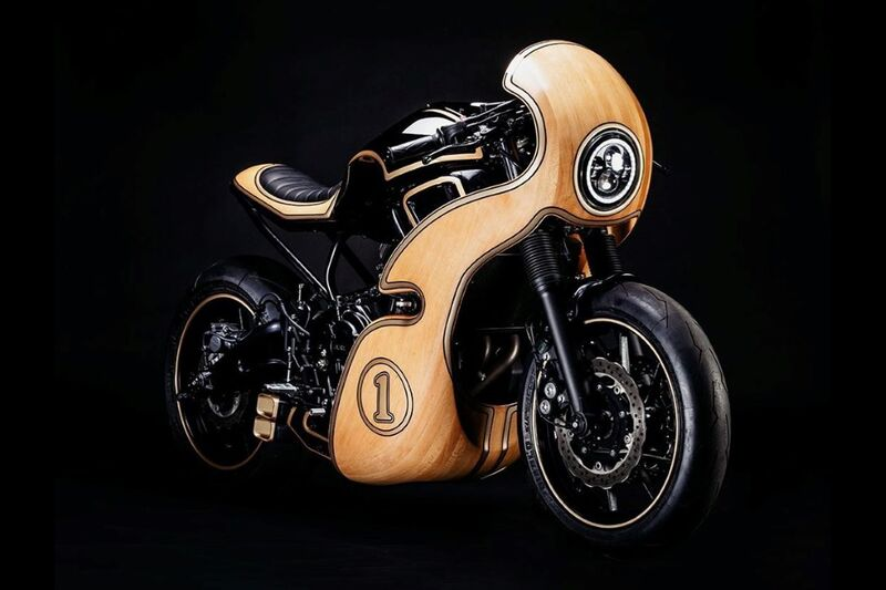 Beechwood-Covered Custom Motorcycles
