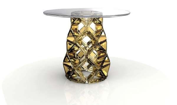 Honeycomb-Like Glass Furniture