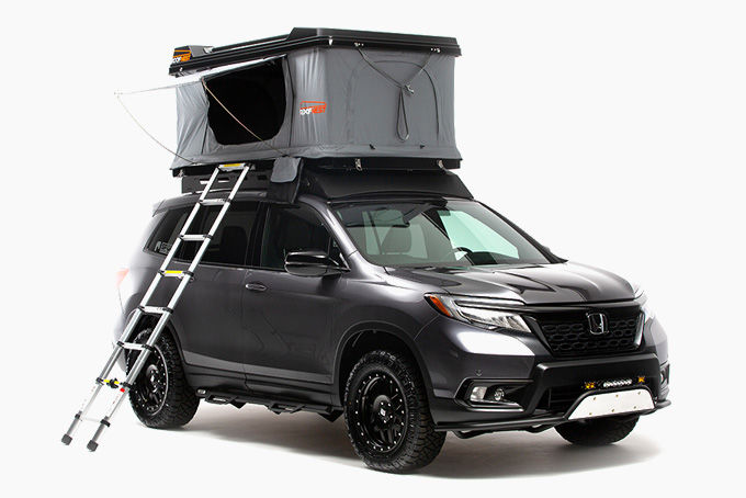 Off-Road Tent-Equipped SUVS