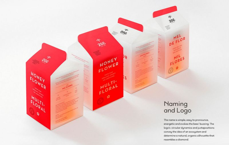 Milk Carton Honey Branding